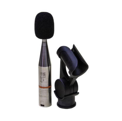 Microfono da misura a condensatore pre-polarizzato omnidirezionale 48V, fatto a mano in Italia, con anello colorato di riconoscimento e con connettore XLR, con foam antivento e clip reggi microfono